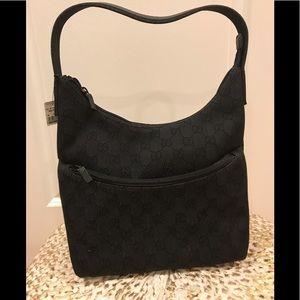 Brand new! Gucci black GG canvas hobo bag